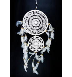Great catches dream Boho lace feathers. Wall decoration bohemian.