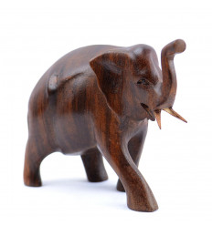 Statuette elephant h10cm solid wood carved hand