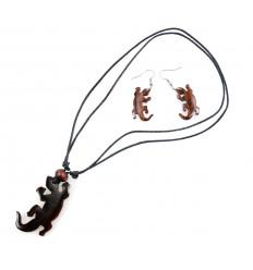 Parure collana + ciondolo + orecchini Tartaruga Abalone. Spedizione gratuita !