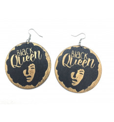 Boucles d'oreilles African girl - Black Queen
