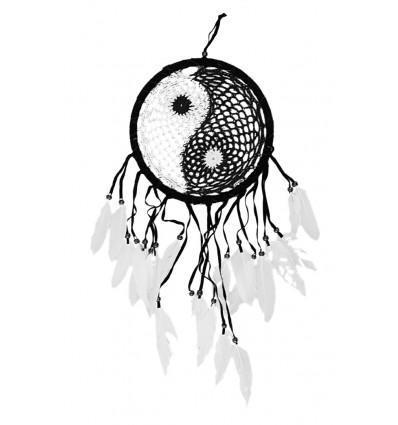 Attrape reves yin yang, broderie dentelle macramé, achat pas cher.