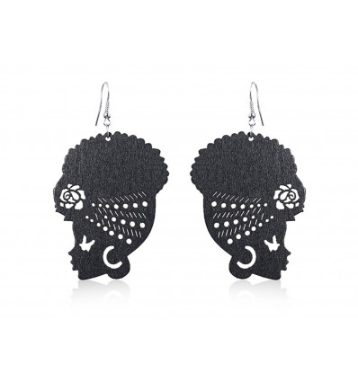 AFRICA wooden earrings