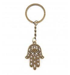 Porta a chiave, la Mano di Fatma in metallo. Spedizione gratuita !