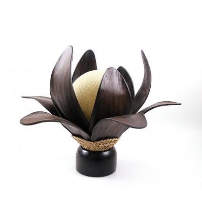 Lampe forme fleur de lotus. Décoration exotique bouddhiste, achat.