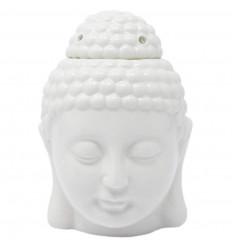 Brule profumo testa del Buddha Zen arte della ceramica bianco