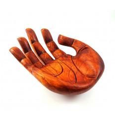 Vuota tasche in forma originale fatto a Mano in legno di 30 cm.