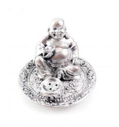 Porte-encens Bouddha rieur avec un lingot dans sa main