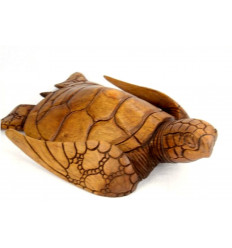 Great statue sea Turtle L30cm exotic wood carved hand