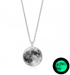 """Collana """"la luna piena"""" fosforescente"""