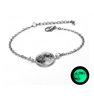 "Bracelet ""full moon"" phosphorescent"