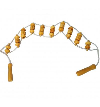 Accessoire de massage en bois pour le dos. Se masser le dos seul.