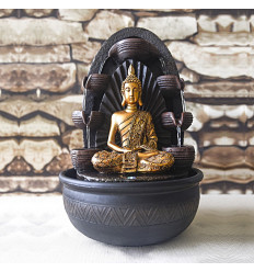 Large indoor fountain Buddha Chakra 40cm to Led lighting