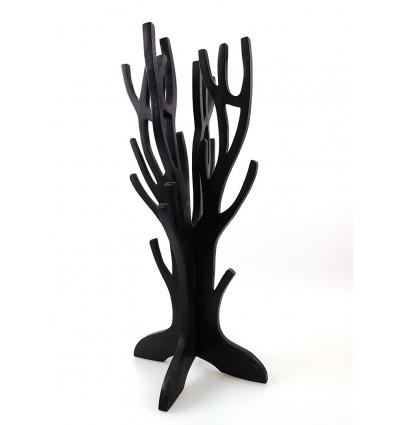 "Jewelry tree / storage wood jewelry finish ""black vintage"""