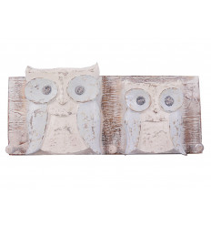 Robe hook wall owl owl wood, decor animals, baby room.