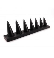 Présentoir à bagues / support en bois teinte noire