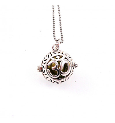 Bola pregnancy with chain in silver metal