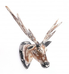 Trophy head Deer wooden wall, scandinavian style