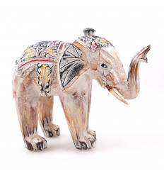 Statuette elephant white wooden house in the world. Purchase cheap.