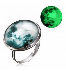 "Bague ""pleine lune"" phosphorescente"