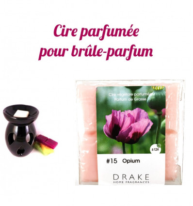 Parfum d'ambiance opium par Drake, cire végétale parfumée, achat.