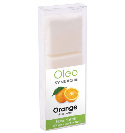 Cera vegetale profumato con olio essenziale di arancia Drake Olio.