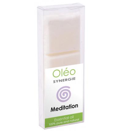 Cera vegetale profumato con oli essenziali per la meditazione.