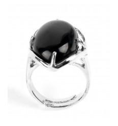 Ring adjustable oval Stone amethyst