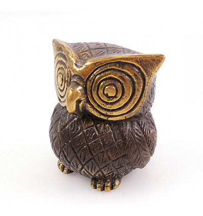 Figurine owl owl in bronze cheap. Gift idea collection.