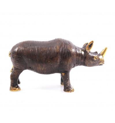 Figurine Rhinoceros in bronze. Gift idea collector.
