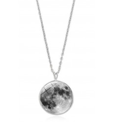 "Collier ""pleine lune"" phosphorescent"