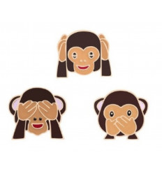 Pin The 3 wise monkeys. Pin golden