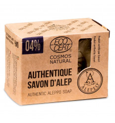 Of Aleppo soap 200g. 4% oil of laurel, certified as Cosmos Natural.