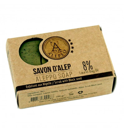 Of Aleppo soap scrub with seeds of black cumin. purchase cheap.