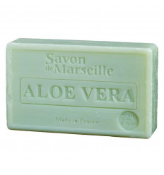 Marseille soap enriched with aloe vera, soothing and healing.
