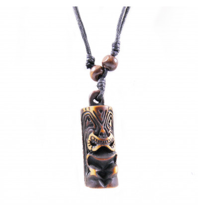 Necklace mixed men's / women's with pendant Tiki - jewelry maori Hawaii Tahiti