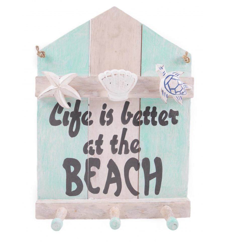 Pat re porte manteau mural d co enfant adolescent cabane de plage - Porte cabane bois ...
