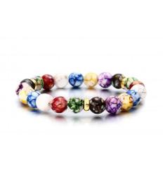 """Bracelet """"joie de vivre"""" - perles multicolores"""