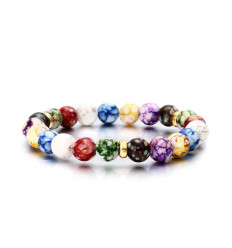 "Bracelet ""joy of living"" - pearl multi-colored"