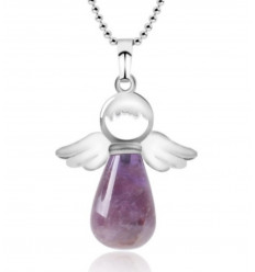 "Necklace ""My guardian Angel"" in genuine Amethyst"
