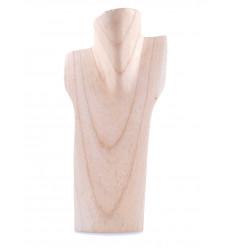 Busto visualizzare le collane in legno massello lordo H30cm