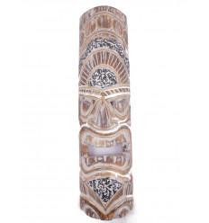 Maschera parete Tiki h50cm legno lavorato.