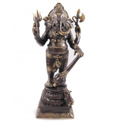 Statuette Ganesh en bronze H40cm. Artisanat asiatique.