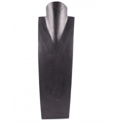 Display special long necklaces H50cm bust solid wood black