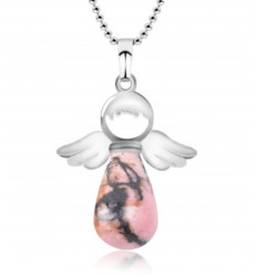 "Necklace ""My guardian Angel"" in Rhodonite genuine"