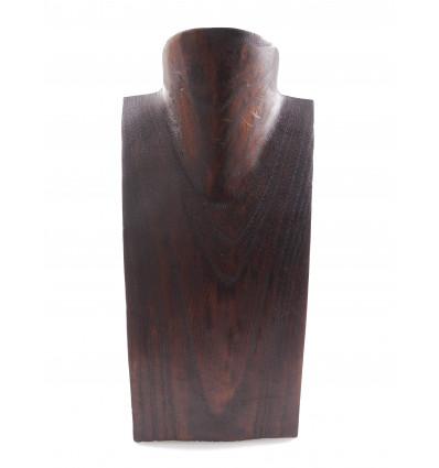 Busto visualizzare le collane in legno massello di cioccolato H25cm