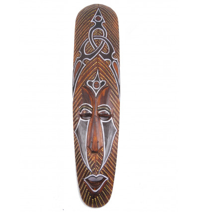 African mask wood Tribal pattern. Deco african.
