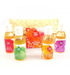 Kit découverte 4 huiles de massage ayurvédiques Holy Lama.