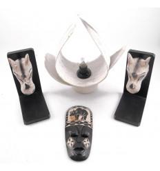 Déstockage ! Lot de 3 objets de décoration rhinocéros déclassés - Articles abîmés à saisir