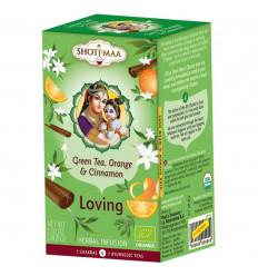 Infuso ayurvedico bio Shoti Maa tè, tè verde, arancio, la cannella.