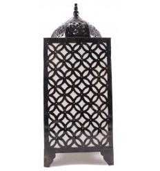Lampada orientale H65cm in ferro battuto. Artigianato marocchino.